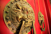 Ancient Chinese architecture copper door knocker