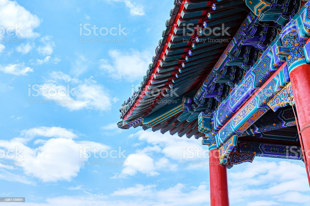 Ancient Chinese Architecture of Forbiodden City stock photo