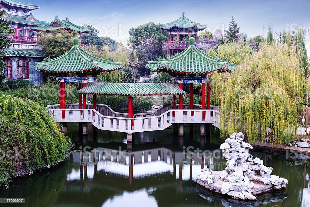 ancient Chinese architecture royalty-free stock photo