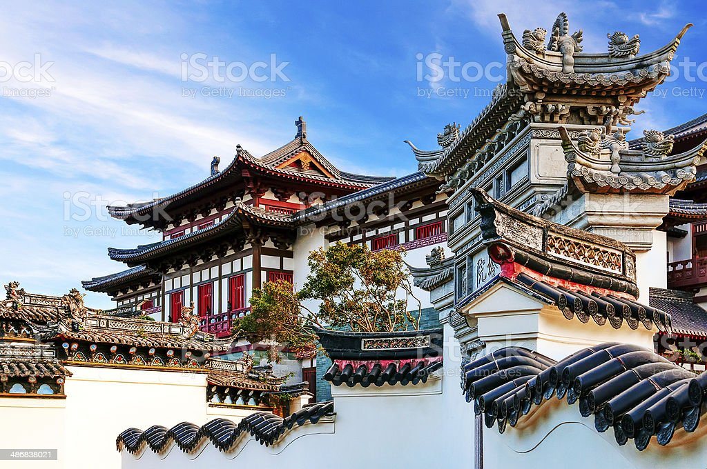 ancient Chinese architecture stock photo
