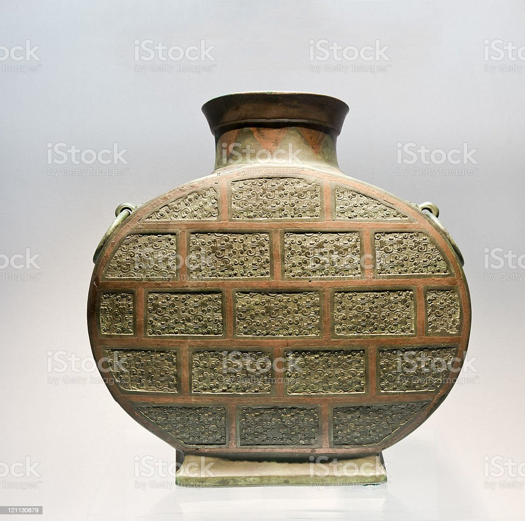 Ancient Chinese Bronze(475-221 BC) stock photo