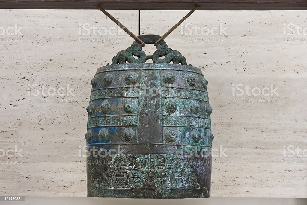 Ancient Chinese Bronze(musical instrument),China royalty-free stock photo