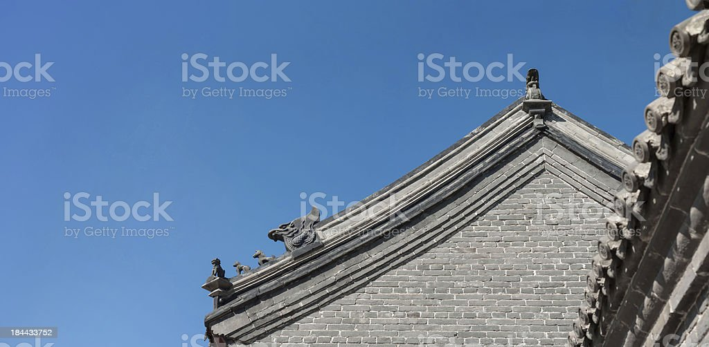 Ancient Chinese building stock photo