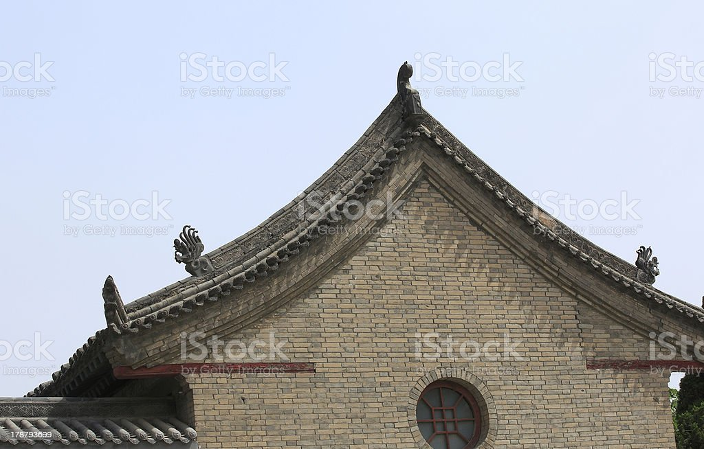 ancient chinese buildings royalty-free stock photo