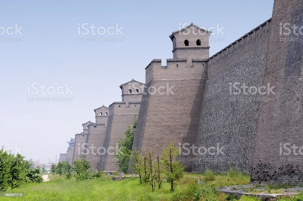 Ancient Chinese city wall stock photo