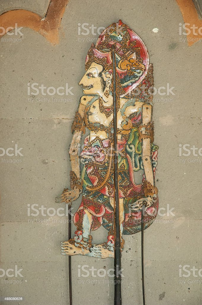 Ancient chinese shadow puppet royalty-free stock photo
