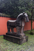 ancient chinese statue of a horse