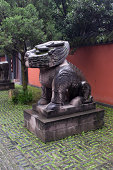ancient chinese statue of a lion