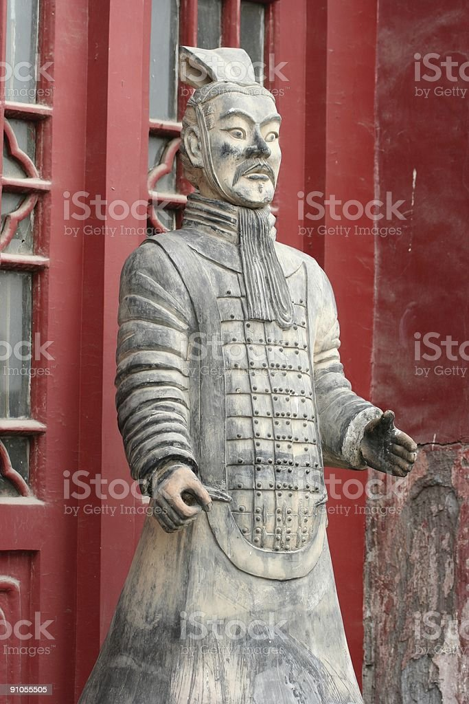 Ancient chinese statue royalty-free stock photo