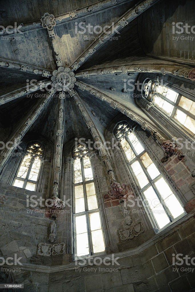 Ancient Church Interior stock photo