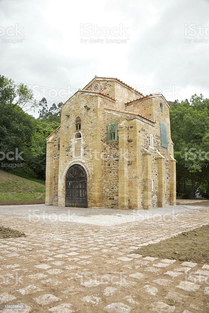 ancient church of San Miguel de Lillo stock photo