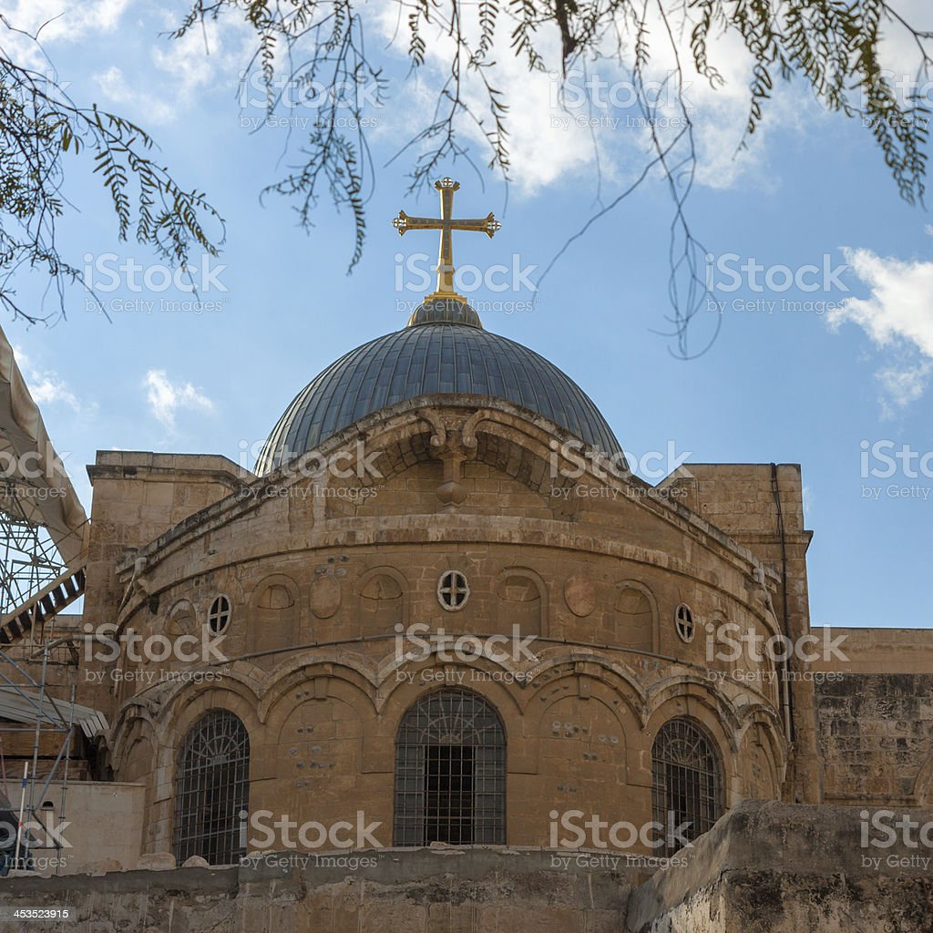 Ancient church of the Holy Sepulchre in Jerusalem royalty-free stock photo