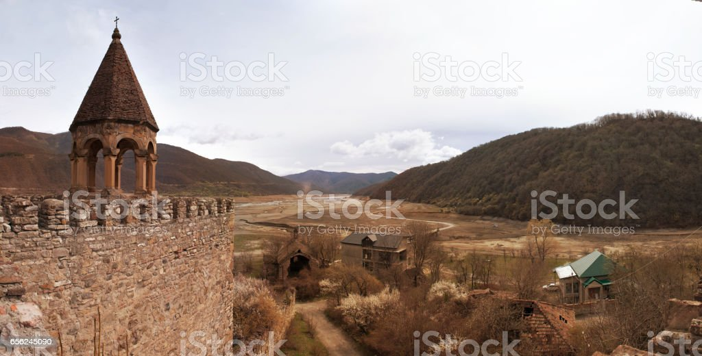 ancient church on Georgia stock photo