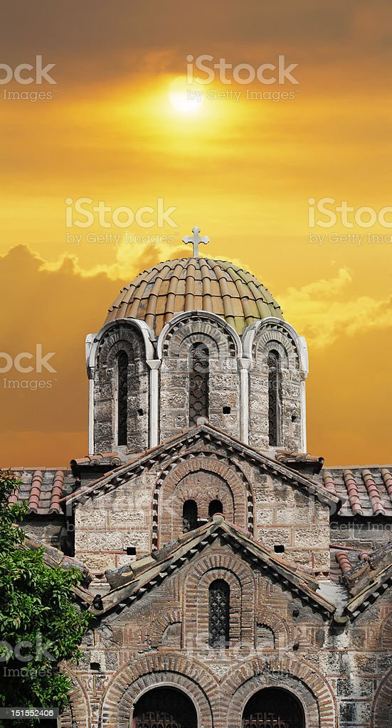 Ancient  Church stock photo