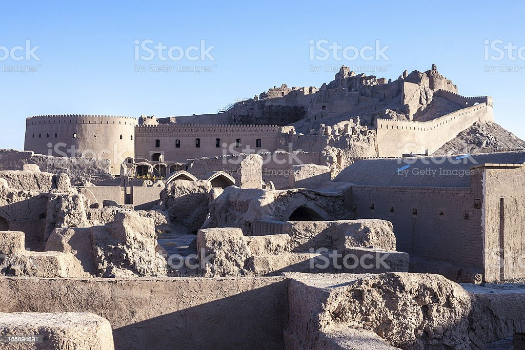 Ancient citadel of Bam royalty-free stock photo
