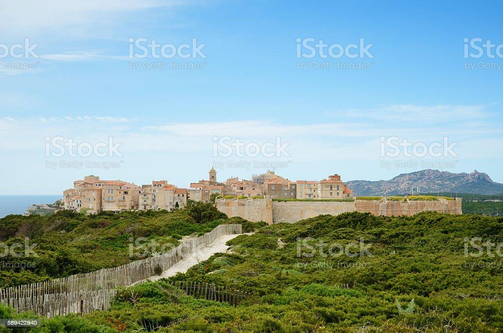 Ancient citadel of Bonifacio stock photo