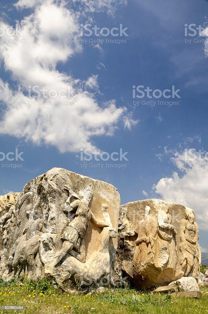 Ancient City Herakleia Salbace, Tavas, Denizli, Turkey stock photo