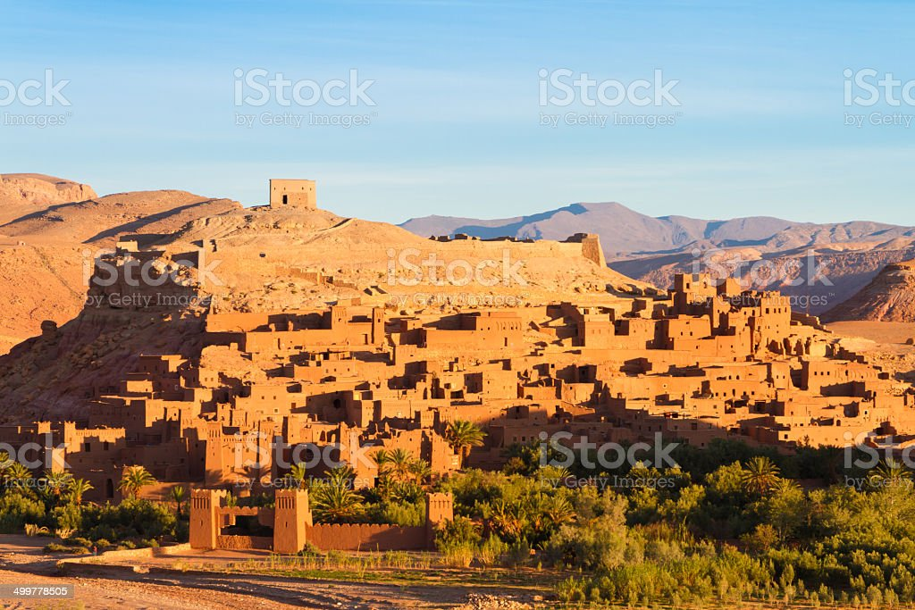 Ancient city of Ait Benhaddou in Morocco royalty-free stock photo