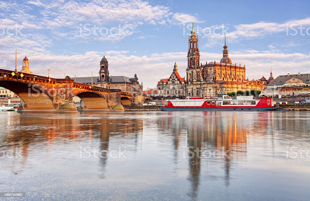 Ancient city of Dresden, Germany. Historical and cultural center of Europe. stock photo