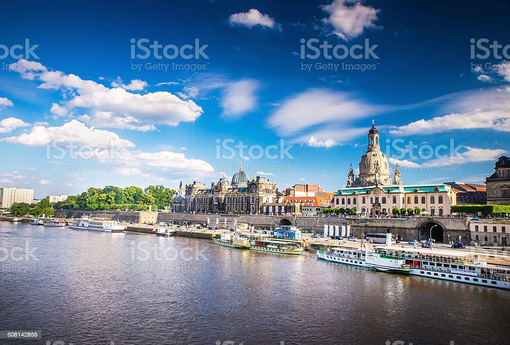 Ancient city of Dresden, Germany stock photo