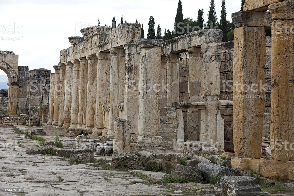 ancient city of Hierapolis royalty-free stock photo