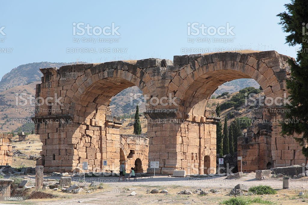 Ancient city of Hierapolis stock photo