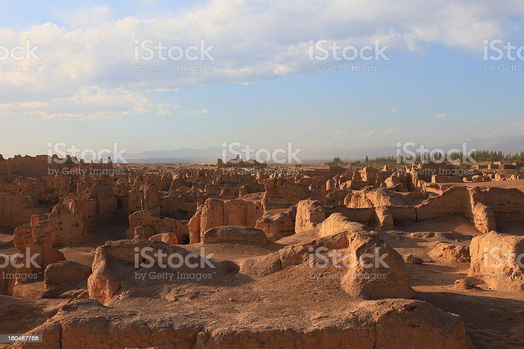 Ancient City of Jiaohe stock photo