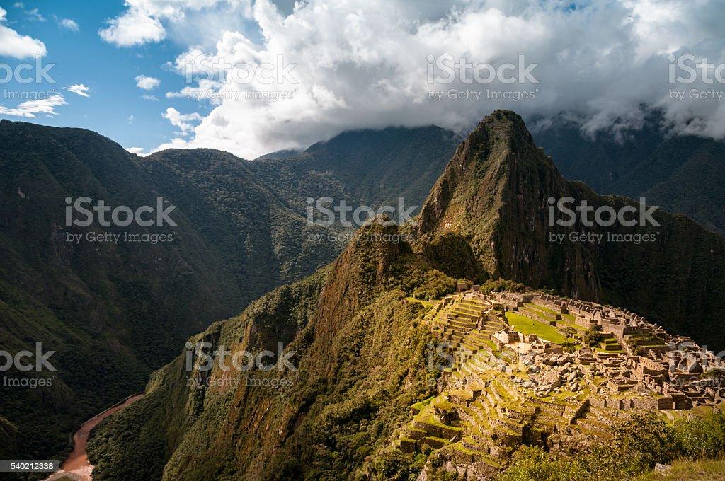Ancient City Of Machu Picchu In Peru stock photo