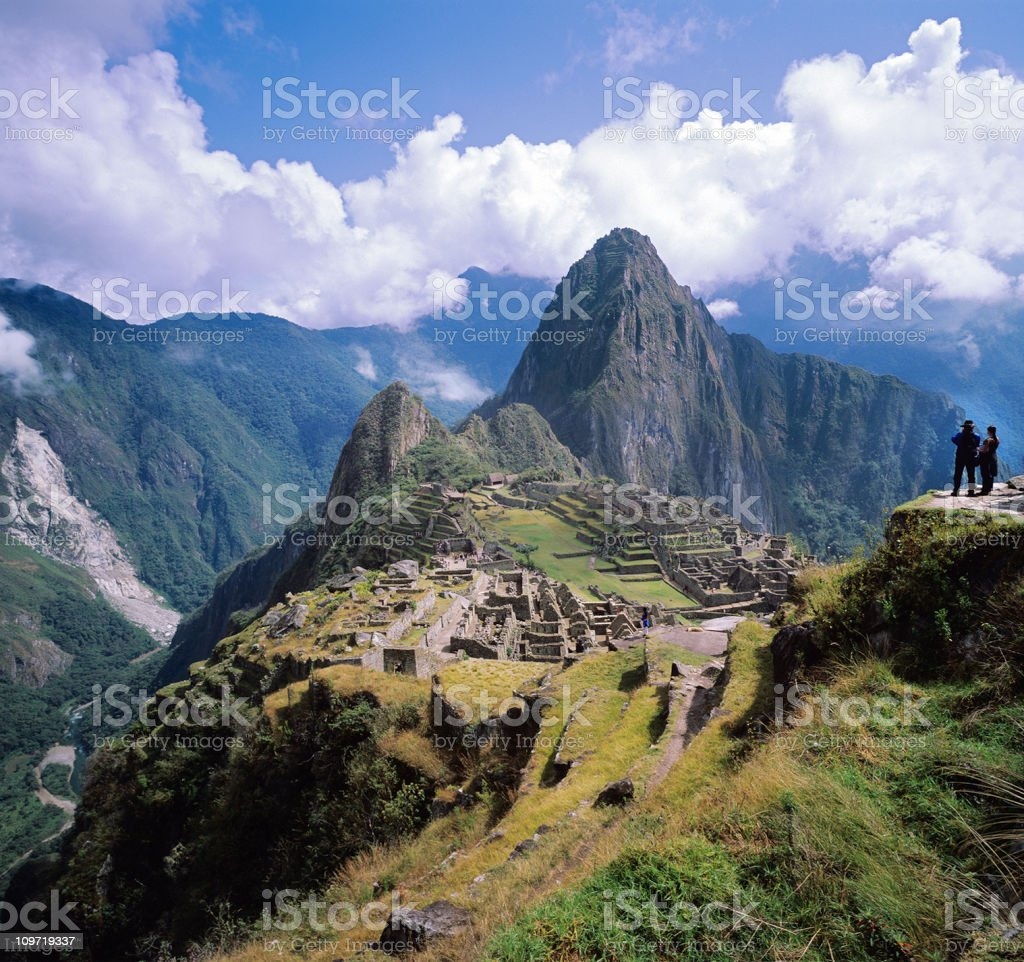 Ancient City of Machu Picchu stock photo