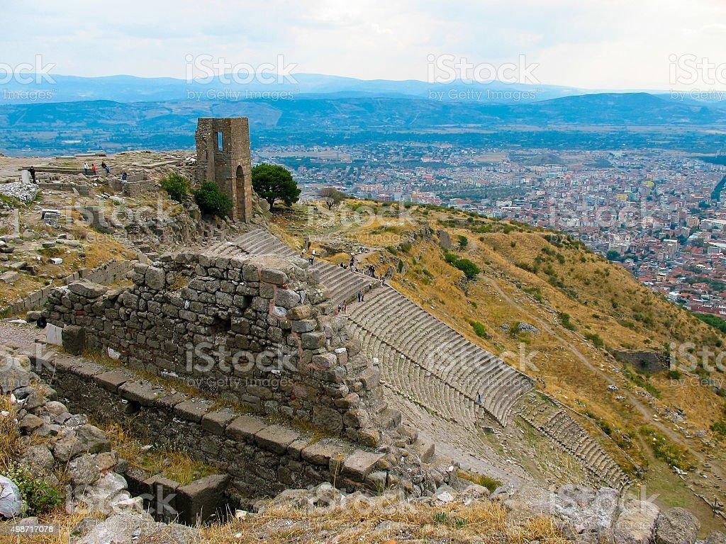 ancient city of Pergamon, Turkey stock photo