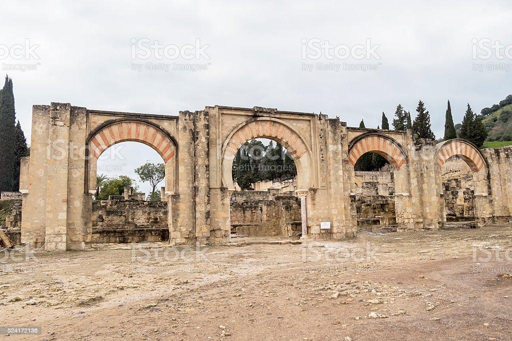 Ancient city ruins of Medina Azahara, Cordoba, Spain stock photo