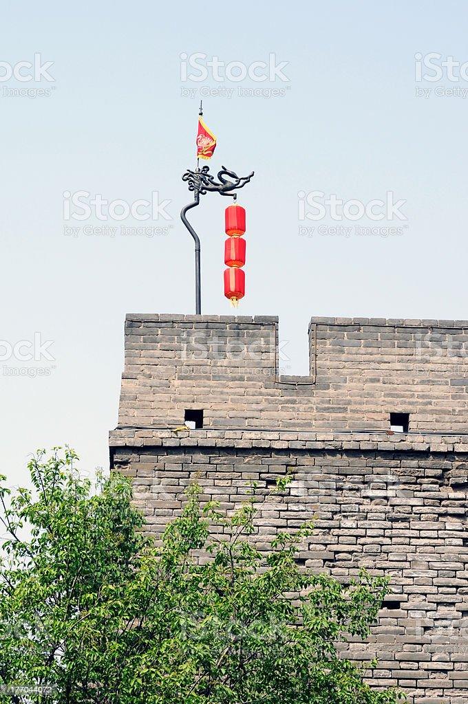 Ancient city wall royalty-free stock photo