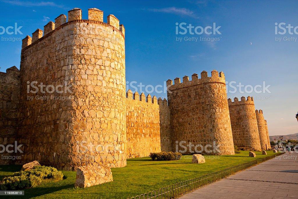 Ancient City Walls of Avila, Spain royalty-free stock photo
