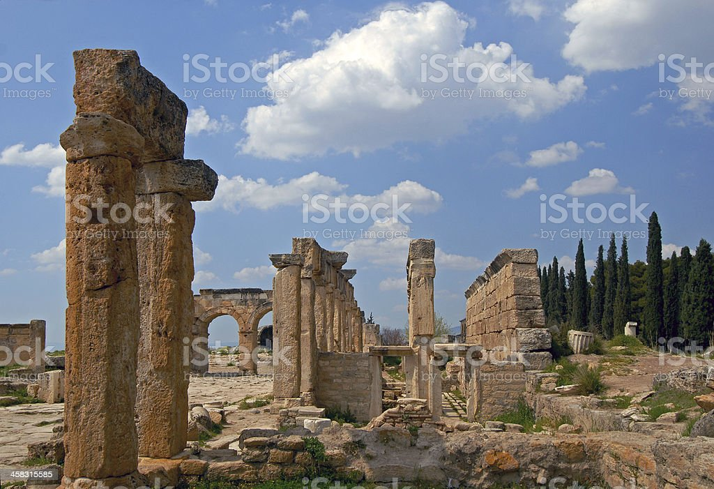 ancient civilization -  Hierapolis royalty-free stock photo