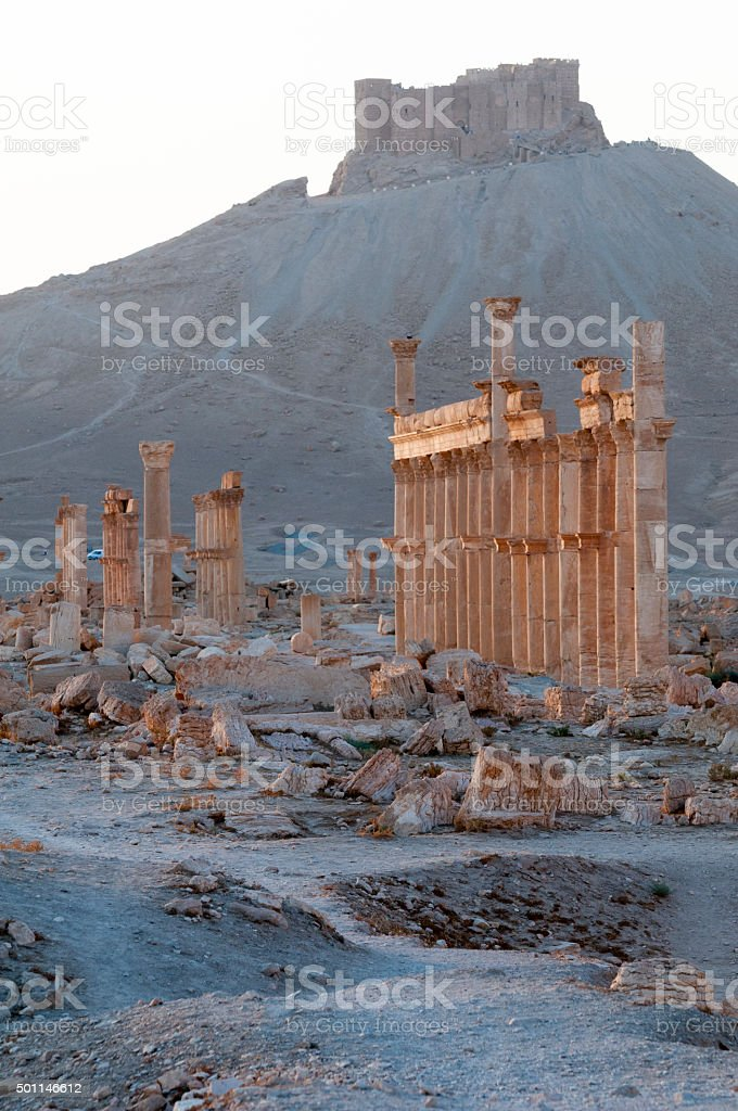 Ancient civilization ruins in Palmyra, Syria stock photo