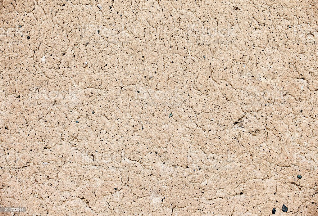 Ancient clay wall texture background. stock photo