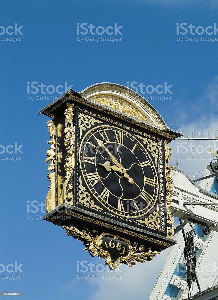 Ancient clock royalty-free stock photo
