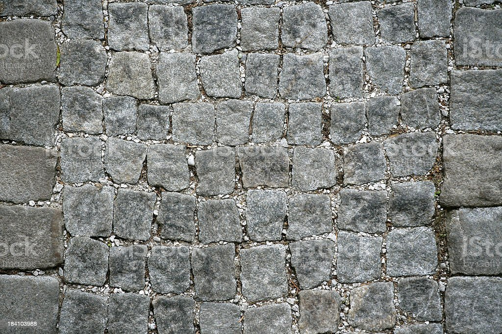 Ancient cobblestone pavement royalty-free stock photo