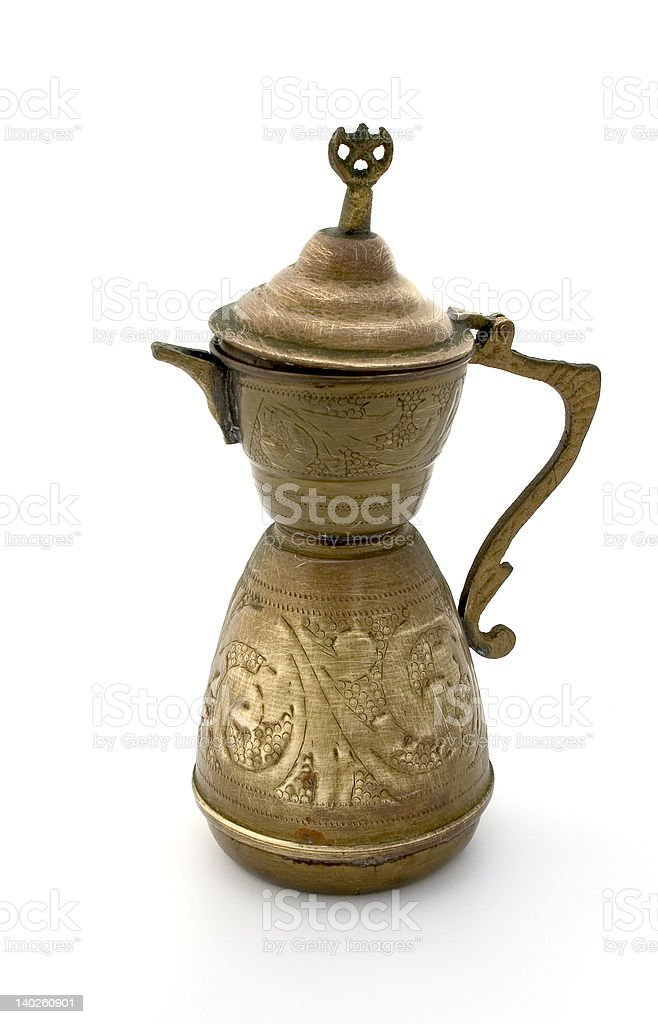 Ancient coffee pot royalty-free stock photo