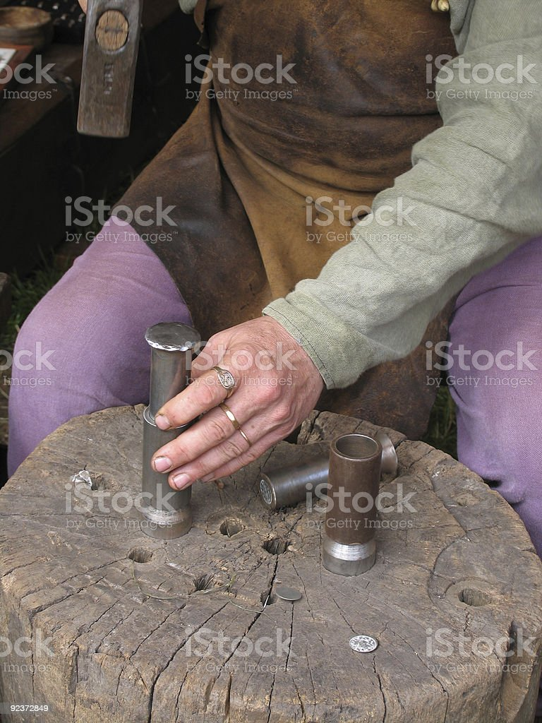 Ancient Coin Maker royalty-free stock photo