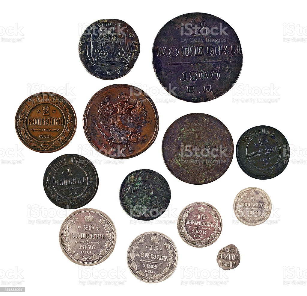 Ancient coins. obverse stock photo