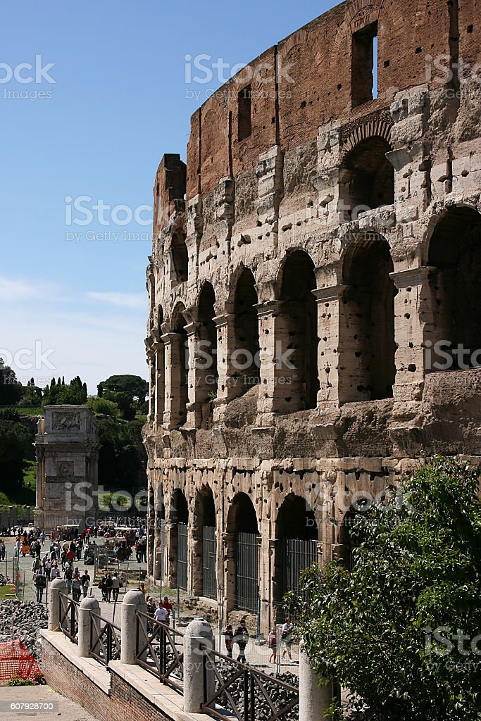 Ancient Colosseum in Rome, Italy stock photo