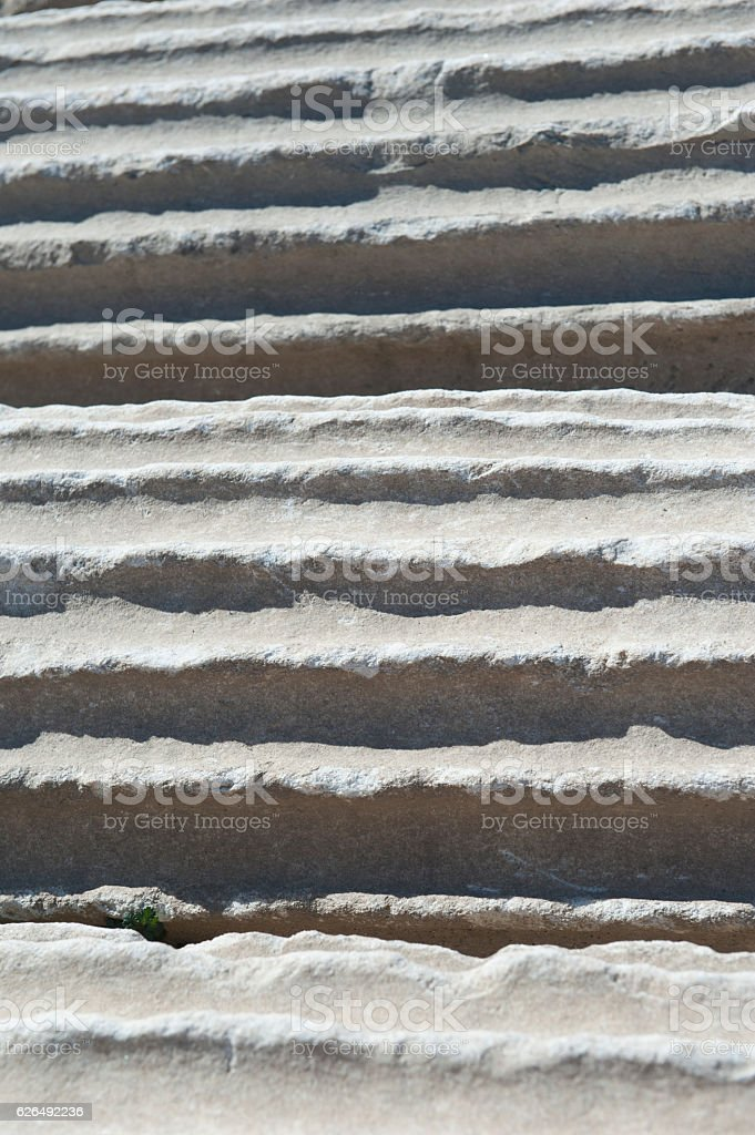 Ancient column background stock photo