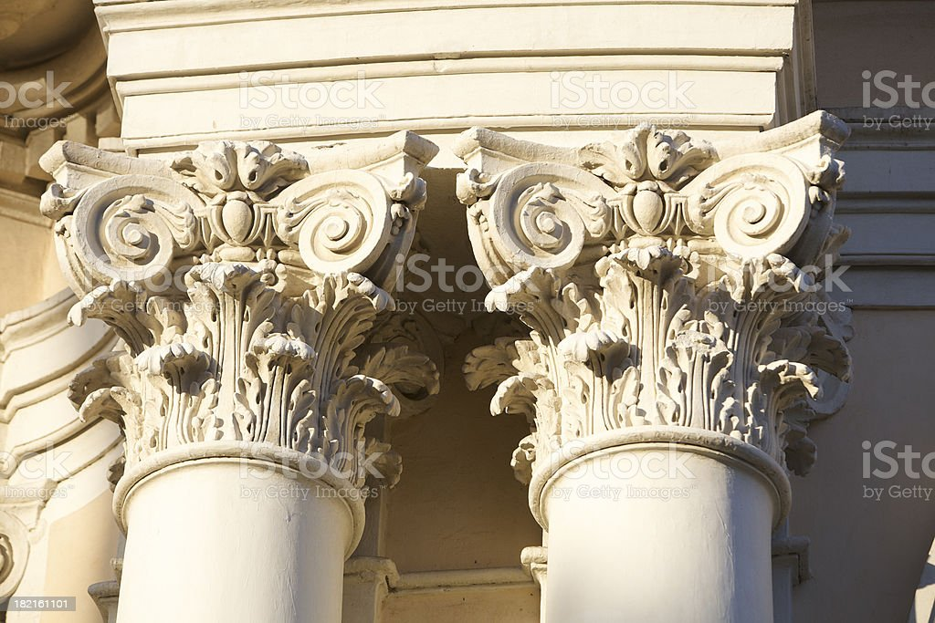Ancient column detail royalty-free stock photo