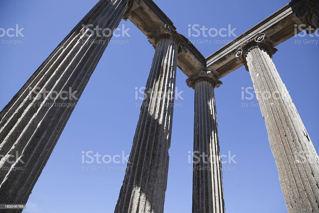 Ancient Column in Aizanoi stock photo