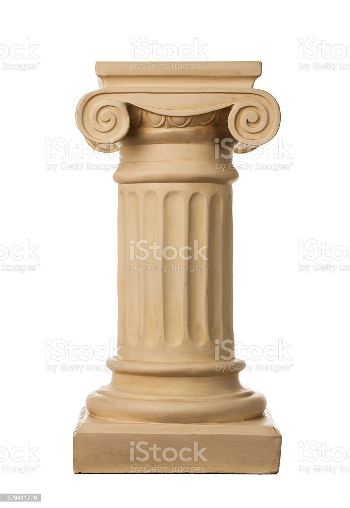 Ancient column stock photo