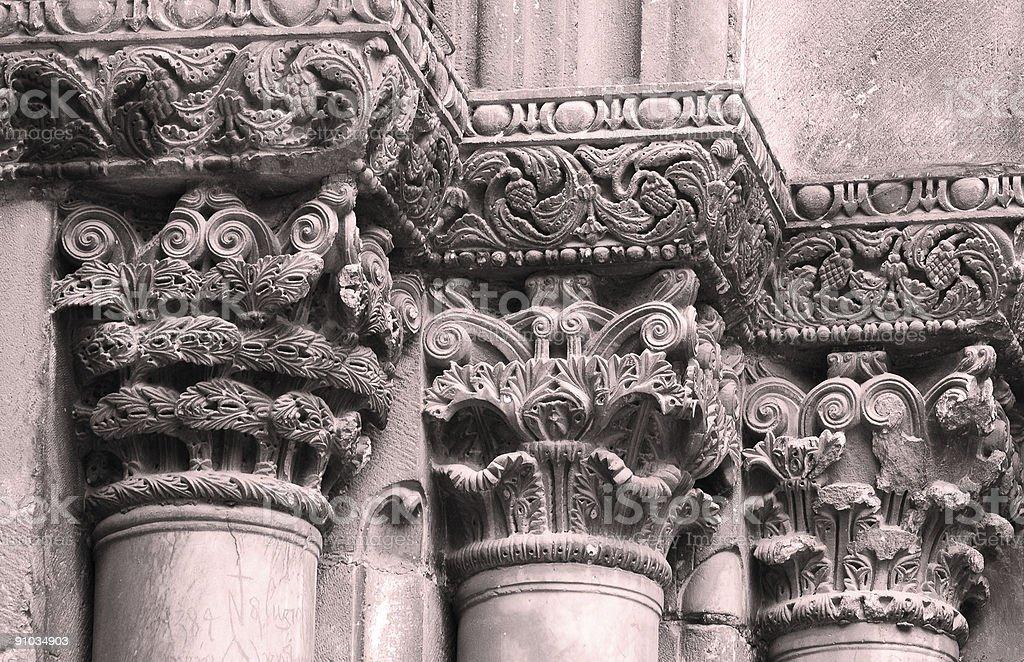Ancient column royalty-free stock photo