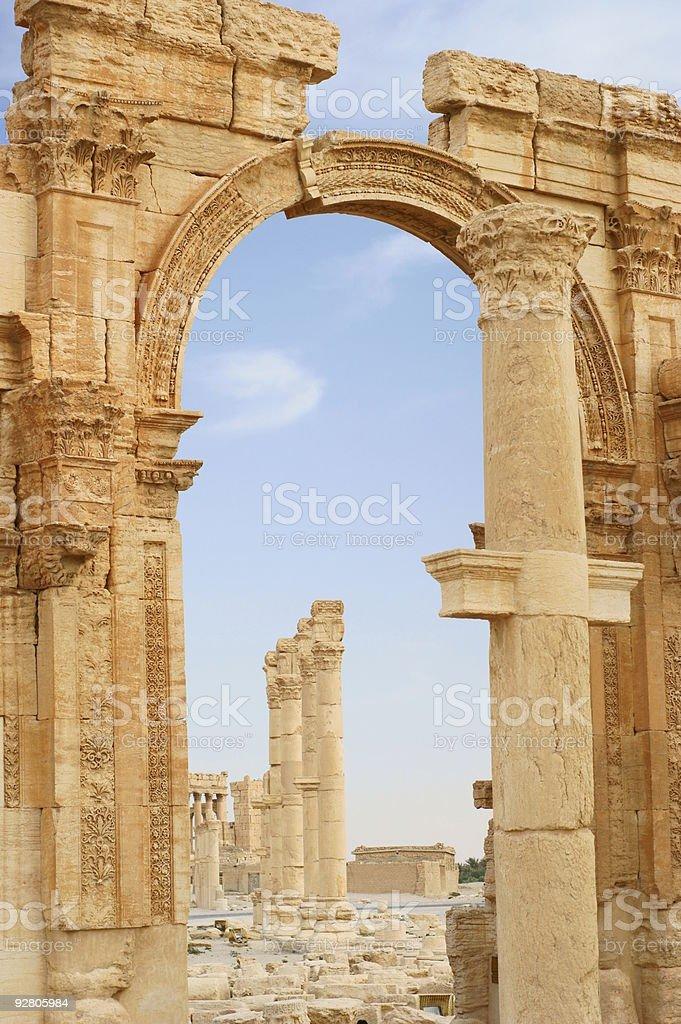 ancient columns in Palmyra, Syria royalty-free stock photo