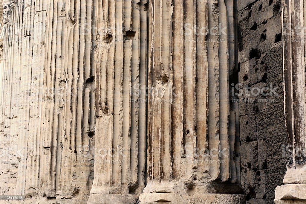 Ancient Columns in Rome, Italy stock photo