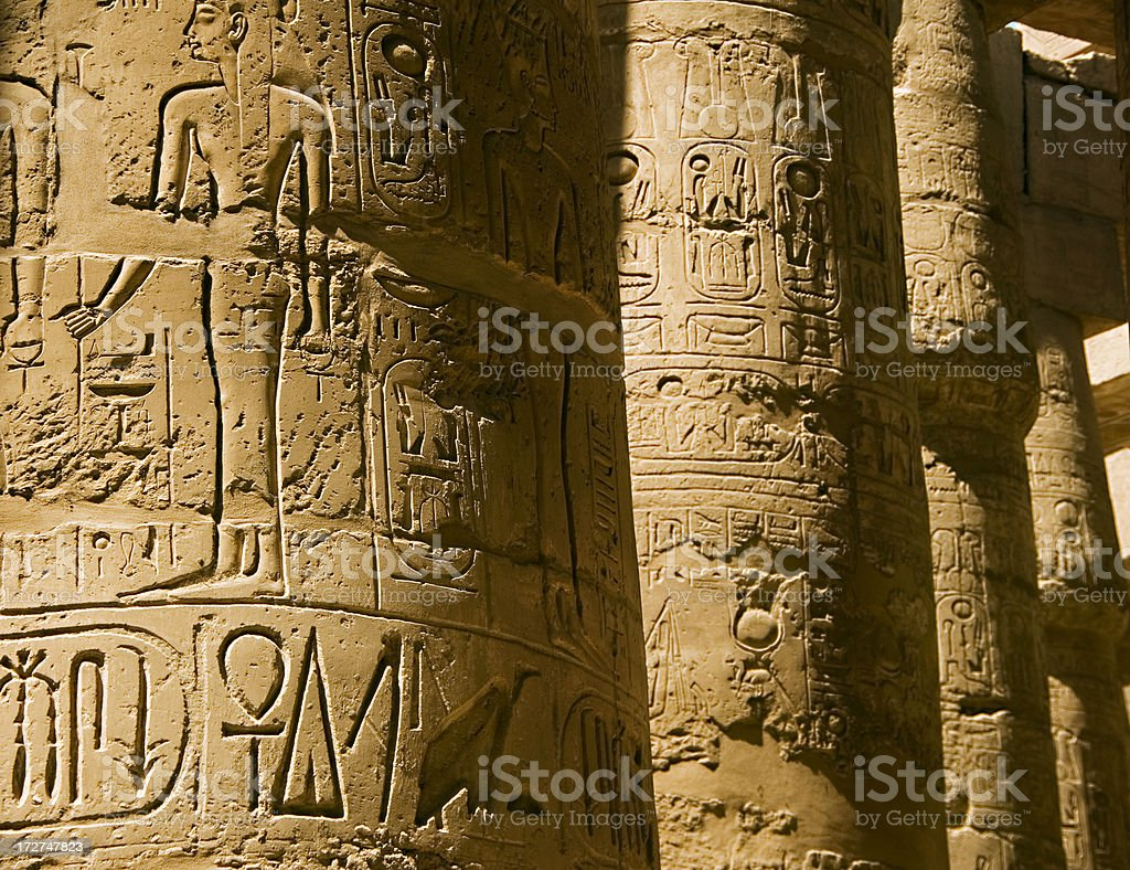 Ancient columns stock photo